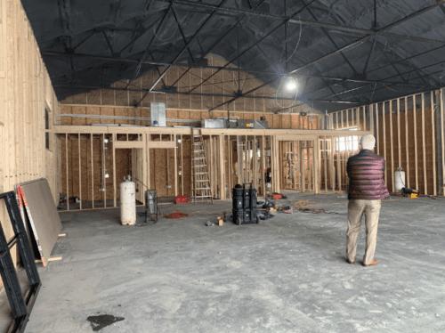 Walk Through of Interior Construction of Glens Falls store