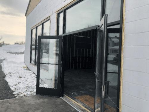 Exterior Entrance of Glens Falls Store under Construction